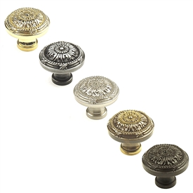 "Georgian Solid Brass, Knob, 1-1/4"" diameter by Century Hardware"