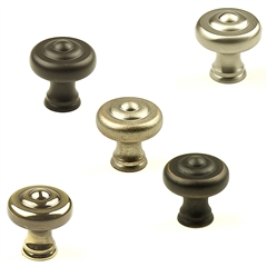 Yukon Solid Brass Knob 1-1/4in diameter by Century Hardware