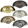 Roman Solid Brass Cup Pull 3in center by Century Hardware