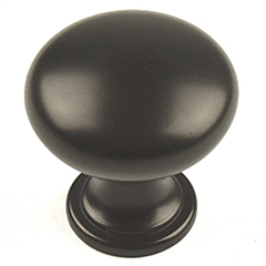 "Glacier II Zinc Die Cast, Knob, 1-3/16"" dia., Light Oil Rubbed Bronze by Century Hardware"