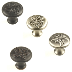 "Aspen Zinc Die Cast Knob, 1-3/16"" diameter Antique Pewter Hand Polished"