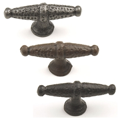 Savannah Wrought Iron T-Knob 2-3/8in length by Century Hardware