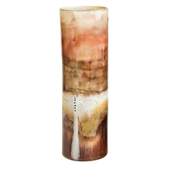 Pictured here is the Salmon Small Glassware Cylinder from Couleur