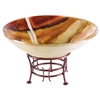 Pictured here is the Salmon Glass Bowl and Iron Base from Couleur