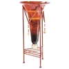 Pictured here is the Red Dawn Small Glass Cone with Jewel Base by Couleur