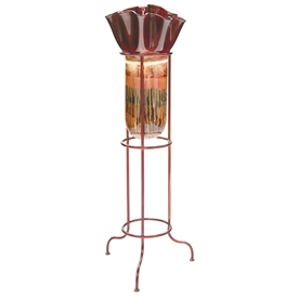 Pictured here is the Sugar Plum Small Glass Floor Urn with Ruffle Top from Couleur