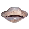 Pictured here is the Tuscan Folded Triangle Glass Bowl from Couleur