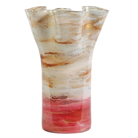 Pictured here is the Taffy Blush Flower Glass Urn from Couleur