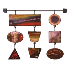 Pictured here is the Prism Painted Metal Wall Art 3 by Couleur