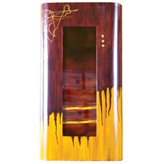Pictured here is the Small Red Dawn Rectangle Wall Art from Couleur