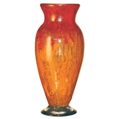 Pictured here is the Orange Glow Glass Vase from Couleur