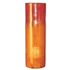 Pictured here is the Orange Glow Glassware Cylinder from Couleur
