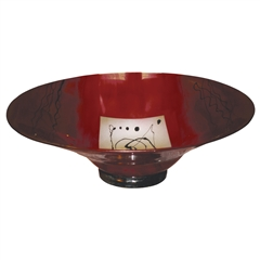 Pictured here is the Red Gold Glass Bowl from Couleur