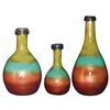 Pictured here is the Mountain Meadow Glass Bottles Set of 3 from Couleur