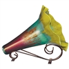Pictured here is the Mountain Meadow Cone Vase with Iron Stand from Couleur