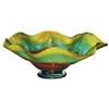 Pictured here is the Mountain Meadow Ruffle Glass Bowl from Couleur