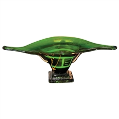 Pictured here is the Iguana Green Long Glass Bowl from Couleur