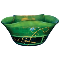 Pictured here is the Iguana Green Glass Bowl from Couleur