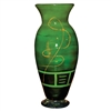 Pictured here is the Iguana Green Hurricane Glass Vase from Couleur