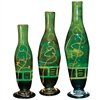 Pictured here is the Iguana Green Glass Bottles Set of 3 from Couleur