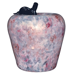 Pictured here is the Moon Dance Glass Fruit Apple Shape by Couleur