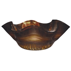 Pictured here is the Riviera Sand Ruffle Glass Bowl from Couleur