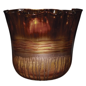 Pictured here is the Riviera Sand Ruffle Urn from Couleur