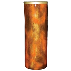 Pictured here is the Feather Gold Glassware Cylinder from Couleur