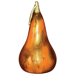 Pictured here is the Feather Gold Glass Pear Shape by Couleur