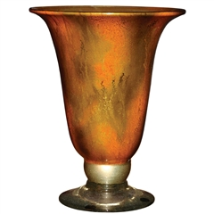 Pictured here is the Feather Gold Glass Urn from Couleur