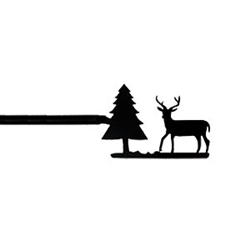 Wrought Iron Deer & Pine Curtain Rod