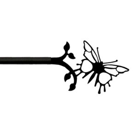 Wrought Iron Butterfly Curtain Rod