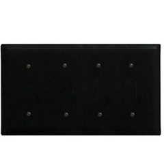 Wrought Iron Quad Electrical Cover