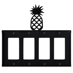 Wrought Iron Pineapple Quad GFI Cover