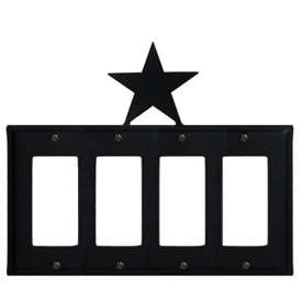 Wrought Iron Star Quad GFI Cover