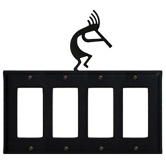 Wrought Iron Kokopelli Quad GFI Cover