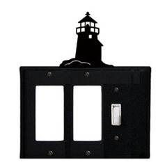 Wrought Iron Lighthouse Single GFI Cover