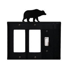 Wrought Iron Bear Single GFI Cover