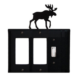 Wrought Iron Moose Single GFI Cover