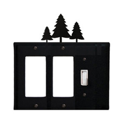 Wrought Iron Pine Trees Single GFI Cover