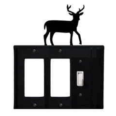 Wrought Iron Deer Single GFI Cover