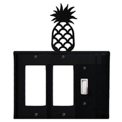 Wrought Iron Pineapple Single GFI Cover