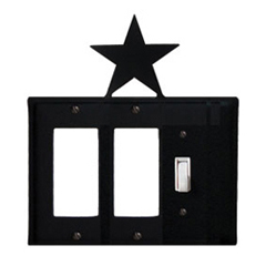 Wrought Iron Star Single GFI Cover