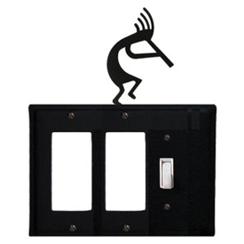 Wrought Iron Kokopelli Single GFI Cover
