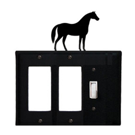 Wrought Iron Horse Single GFI Cover