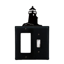 Wrought Iron Lighthouse Combination Cover - Single GFI with Single Switch