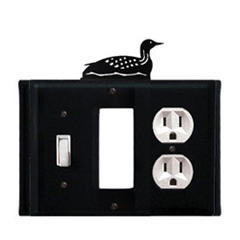 Wrought Iron Loon Combination Cover - Switch, GFI and Outlet