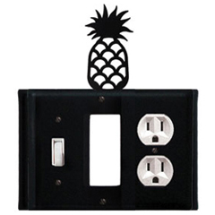Wrought Iron Pineapple Combination Cover - Switch, GFI and Outlet
