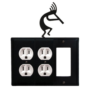 electrical wall plate covers decorative electrical wall.htm wrought iron kokopelli combination cover double outlets with  wrought iron kokopelli combination