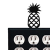 Wrought Iron Pineapple Triple Oulet Cover